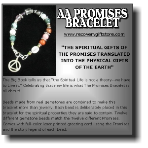 AA Promises Bracelet at www.recoverygiftstore.com